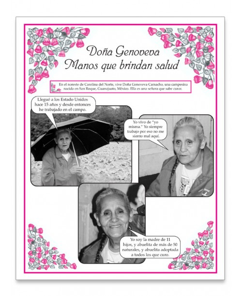 Doña Genoveva: Manos que brindan salud Fotonovela