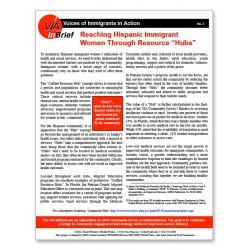 "Reaching Hispanic Immigrant Women Through Resource ""Hubs"" Brief"