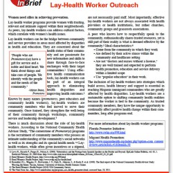 Lay-Health Worker Outreach Brief