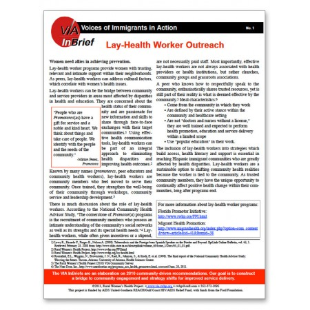 Lay-Health Worker Outreach Brief