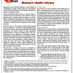 Women's Health Literacy Brief