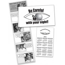 Take care of your eyes! - English pocket brochure for men and women