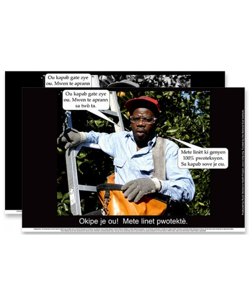 """""""Safety glasses are the key to eye safety in the orchards."""" Poster download"""