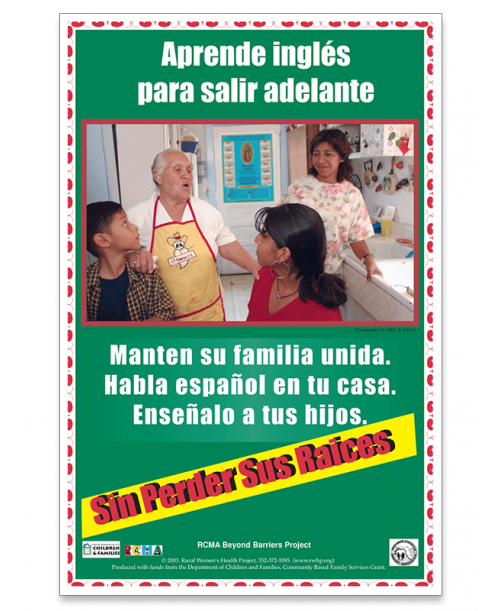 Sin Perder Sus Raices Poster (Without Losing your Roots) - Spanish