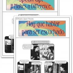 Hay que hablar para ser escuchado (Speak Up! It Makes a Difference) Fotonovela