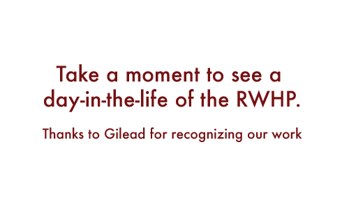 Take a moment to see a day-in-the-life of the RWHP. Thanks to Gilean for recognizing our work.